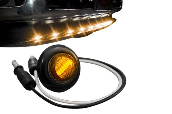 Recon Universal 9 Pc Amber Led Front Air Dam Light Kit With Smoked Lens Black Bezel 264227ambk Parleys Diesel Performance