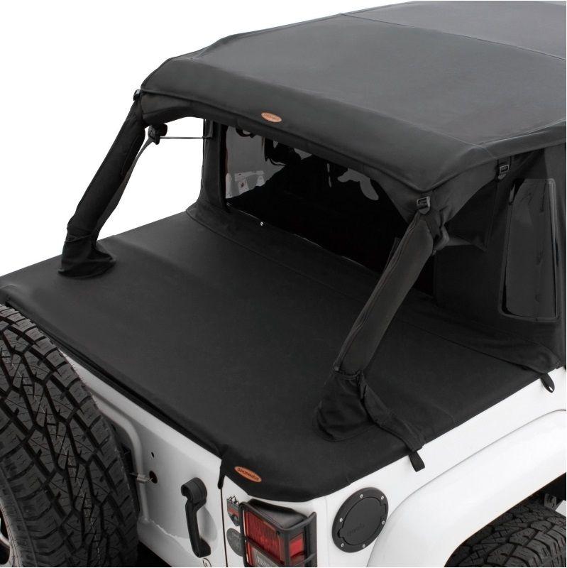 Jeep Jk Soft Top >> Bushwacker Jeep Trail Armor Flat Back Soft Top For 2007 2018 Jeep Wrangler Jk 2 Door 15235